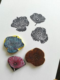 flowers | rubber stamps | Ewa | Flickr
