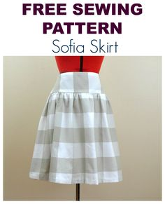 FREE SEWING PATTERN: THE SOFIA SKIRT For Women. In Sizes 4-22!