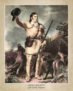 Perhaps the most decorated Alamo defender is Col. David Crockett, shown here in this 1834 painting. Crockett, a celebrated and mythologized figure in Texas history, was a frontiersman and congressman that died as a martyr in the Battle of the Alamo. Fine Art Prints, Framed Prints, Canvas Prints, Davy Crockett, Into The West, Art Of Manliness, The Lone Ranger, Le Far West, Mountain Man