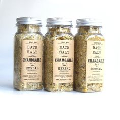 Bath salt  HERBAL Chamomile by RightSoap on Etsy, $6.50