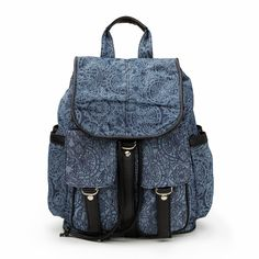 Printed Denim Backpack #sportsgirl