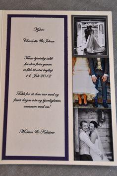 Bryllupet - Takkekort! (tekst)