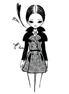 Jason Wu A/W 2013 illustrated by Candybird