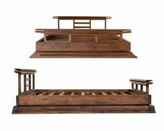 Kondo Wood Platform Bed Asian Furniture Interior Ideas - Furniture | Stupic.com