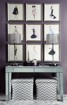 Barbie Capucine from Z Gallerie----A collection of all 9 looks fab and they are all on sale now!-Pinned by Concept Candie Interiors   girly