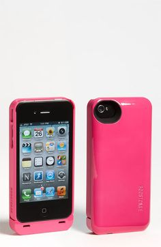 I have this case on my phone right now! It works well and it's a pretty bright color!! Boostcase 'Hybrid' iPhone 4 & 4S Case & Battery Sleeve available at #Nordstrom