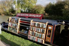 The Floating Bookshop, secondhand bookshop in the UK  (byQuilted/)
