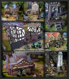 Lots of Medieval Building Paper Models Free Download