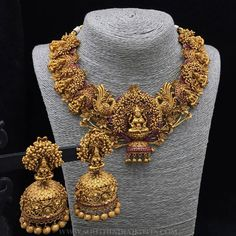 Fulfill a Wedding Tradition with Estate Bridal Jewelry Bridal Necklace Set, Bridal Jewelry Sets, Bridal Jewellery, Jewellery Box, Gold Necklace, Mango Necklace, Garnet Necklace, Jewellery Shops, Diamond Jewellery