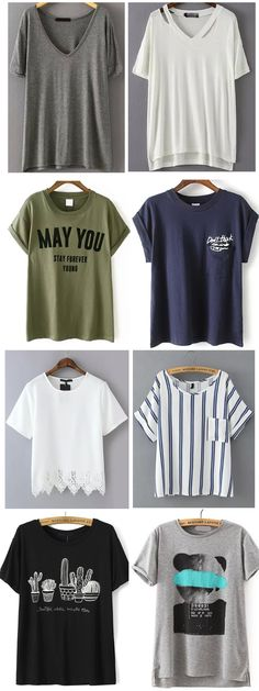 There have been all of style tshirt for you.Shop it at romwe.com. Also other fashion pieces with daily update for your wonderful look!