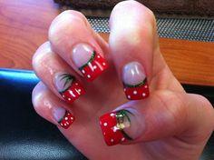 Strawberry Fields - Nail Art Gallery by www.nailsmag.com #nailart