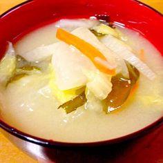 何時もの具だくさん味噌汁です。 - 60件のもぐもぐ - 具だくさん味噌汁 by mayumi0525