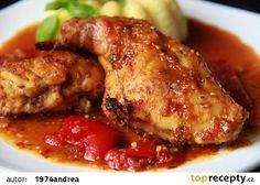 V kuchyni vždy otevřeno .: Králík s pikantní omáčkou alla Piri piri Piri Piri, No Salt Recipes, Tandoori Chicken, Poultry, Ale, Pork, Food And Drink, Treats, Ethnic Recipes