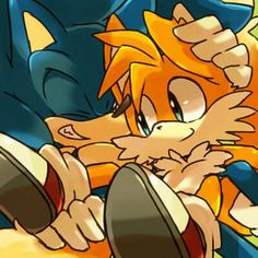 Sonic and Tails.