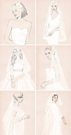 Diferentes estilos de velos de novia | El Blog de una Novia | #novias #boda