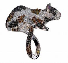 Bague Chat : bague Chopard - Bestiaire Chopard - 150 ans Chopard: bijoux Chopard - Collection Animal World, Chopard - Joyce.fr