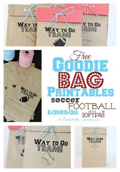 Sports Goodie Bags Printable Free Sports Goodie Bag Printable – SO CUTE! Ones for Soccer Football, Baseball, Softball and now Volleyball! Volleyball Snacks, Baseball Snacks, Sports Snacks, Team Snacks, Baseball Mom, Baseball Games, Volleyball Locker, Travel Baseball, Baseball Tickets