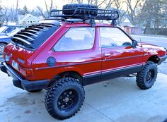 theLandCrab — The Land Crab is a 1980 Subaru hatchback. Lifted Subaru, Lifted Cars, Subaru Forester, Subaru Impreza, Subaru Hatchback, Subaru Justy, Automobile, Car Mods, Expedition Vehicle