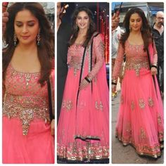 Madhuri Dixit in Manish Malhotra. I want this!!!! #Designer #PinkLehenga