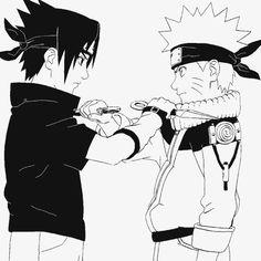 Uchiha Sasuke and Uzumaki Naruto.