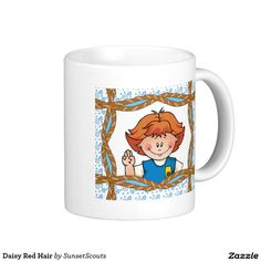 Daisy Red Hair Classic White Coffee Mug