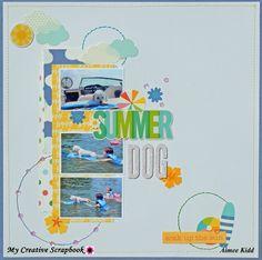 Summer Dog - Scrapbook.com Pebbles Sunshiny Days
