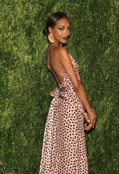 Jourdan Dunn in Juan Carlos Obando - CFDA and Vogue 2013 Fashion Fund Finalists Celebration