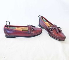 2aaab1594 Cole Haan Woman Slip On Loafers Mocs Brown Tassel 8.5 N Leather Hand Made  With Cedar Shoe Trees Investment Dressing Capsule Wardrobe Modest