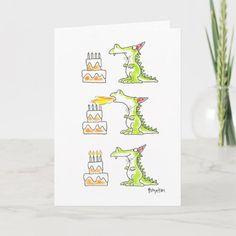 BIRTHDAY DRAGON by Boynton Card Birthday Gag Gifts, Cute Birthday Cards, Birthday Greeting Cards, Custom Greeting Cards, Birthday Greetings, Card Ideas Birthday, Birthday Wishes, Creative Birthday Cards, Birthday Sayings