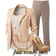 pastel suit, created by pinkfashion2 on Polyvore