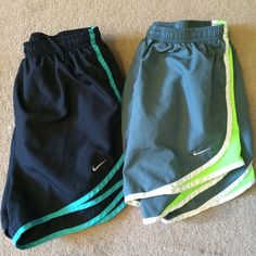 Nike shorts bundle Black/turquoise and gray/lime green. Only selling as a bundle at the moment! Nike Shorts