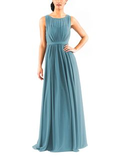 Stylist NotesIt's classic and sexy with a great v-back detail. Share this one with your mom too. -ChloeDescriptionJenny Yoo VivienneFull length bridesmaid dressBateaunecklineNatural waistLuxe Chiffon