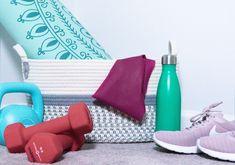 At Home Gym Must Haves - Grey Stripes & Denim Post Workout, Workout Videos, Denim Blog, Kettle Ball, Bar Method, Gym Accessories, Kayla Itsines, Gym Membership, Michelle Lewin