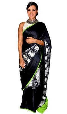 Neha Dhupia in Masaba for Satya Paul WIFW Autumn/Winter 2013