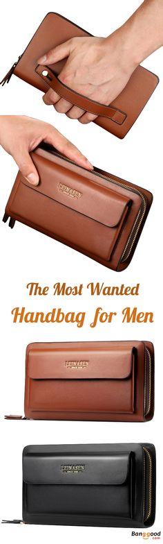 US$29.98 + Free shipping. Men's Bag, Business Bag, Clutch Bag, Men's Handbag, PU Bag, Waterproof Bag, Phone Bag, Card Holder, Wallet. Color: Black, Brown. Multipocket Design. With this Handbag, Everything Stays in Place.