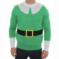 Amazon.com: Ugly Christmas Sweater - Elf Sweater by Tipsy Elves: Clothing