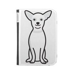 Chihuahua Dog Cartoon Kindle Case