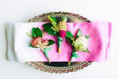 boutonnieres - photo by Madison Short Photography http://ruffledblog.com/sunny-palm-springs-wedding-inspiration