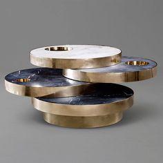 Solaris table by Lara Bohinc and Lapicida #exclusivedesign #luxurydesign #exclusivefurniture #goldfurniture #limitededtion #inspirationideias