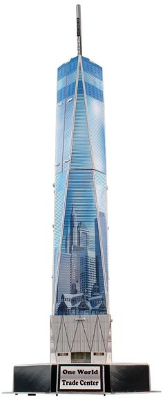 One World Trade Center Freedom Tower 3D Puzzle Architectural Museum Quality 23pc / eBay