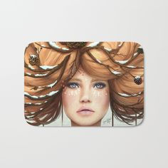 Winter Bath Mat by Sara Isabe Hoyos. Worldwide shipping available at Society6.com. Just one of millions of high quality products available.
