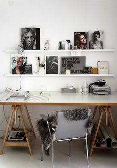 a cool scandinavian work space // office