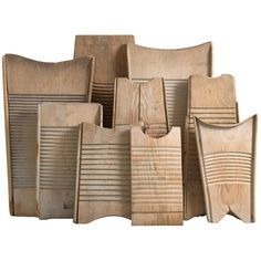 Collection of Sculptural Washboards | From a unique collection of antique and modern more folk art at https://www.1stdibs.com/furniture/folk-art/more-folk-art/