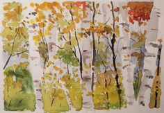 watercolor birch tree for or painting - Hledat Googlem