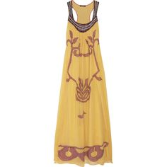 Vineet Bahl Embellished georgette maxi dress (190 AUD) found on Polyvore