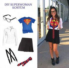 halloween costumes for work Clark Kent Superman Kostm fr Damen selber machen Diy Superhero Costume, Superman Costumes, Superhero Party, Female Superhero Costumes Diy, Thor Costume, Superman Halloween, Superhero Dress Up, Couple Halloween Costumes