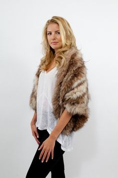 The Albany - recycled fur stole www.tuckshopco.com