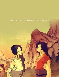 Avatar: Legend of Korra. Human Raava and avatar Wan. Definitely my favourite Raava art, it's so beautiful!