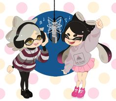 (The text here has been removed because splatoon is pure and not waifu material) Splatoon 2 Game, Splatoon Comics, Squid Games, Splatoon Squid Sisters, Callie And Marie, Nintendo, Pokemon, Character Design, Anime