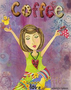 Art Print. Joie café